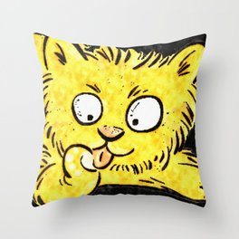 Cool sitting Pet Cat Throw Pillow