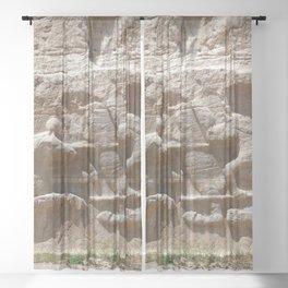 Persian Knights Equestrian Relief, Naqsh-e Rostam, Persia, Iran Sheer Curtain