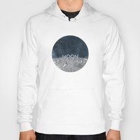 the moon Hoodies featuring Moon by Chris Redford