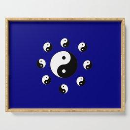Yin and Yang 21- Tao,Zen,Taoism,Dao,Harmony,religion,buddhism,buddhist,taijitu,taiji,taoist,china Serving Tray