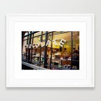 chocolate Framed Art Prints featuring chocolate by The Last Sparrow