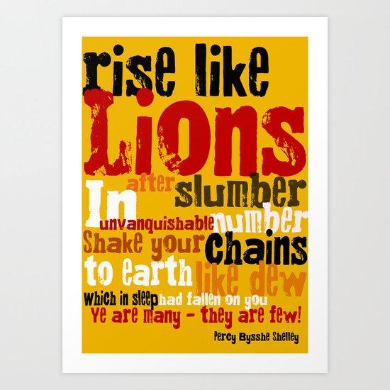 rise like lions Art Print