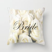 bride Throw Pillows featuring Bride by AE Interiors