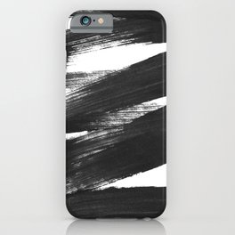 Black Brushstrokes Abstract Ink Painting iPhone Case