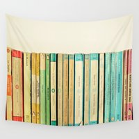 bookworm Wall Tapestries featuring Birds on Parade by Cassia Beck