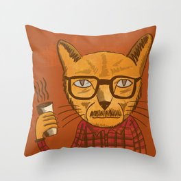 Working with designers is like herding cats Throw Pillow
