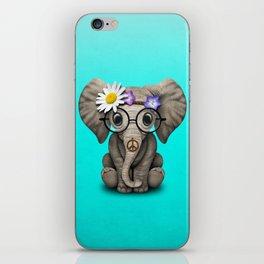 Cute Baby Elephant Hippie iPhone Skin