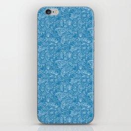 Cetacea in Turquoise iPhone Skin