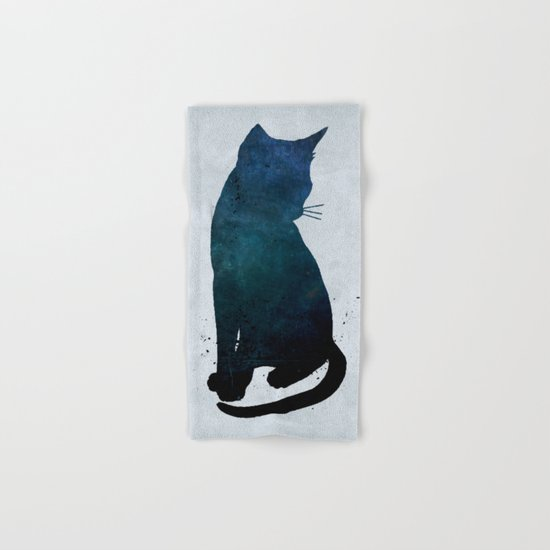 Dark Cat Hand & Bath Towel