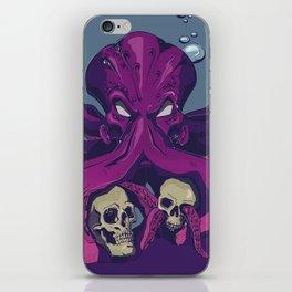 the purple octopus iPhone Skin