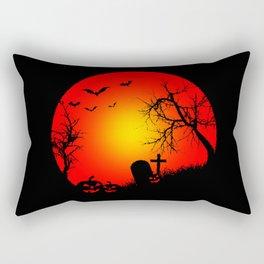 Nightmare Pumpkin Halloween Rectangular Pillow