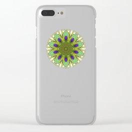 Peacock Healing Light Mandala Clear iPhone Case