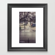 #backlanesofwpg four Framed Art Print