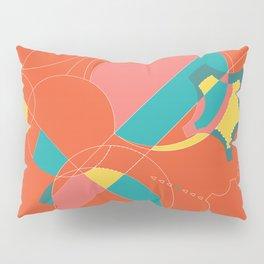 Peachy Keen Sherbet Gears Pillow Sham