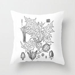 datura stramonium Throw Pillow