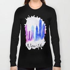 Color New York Skyline 02 Long Sleeve T-shirt