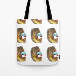 mean baboon pattern Tote Bag
