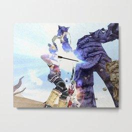 Archer vs Rock monster - 弓箭手与摇滚怪兽 Metal Print