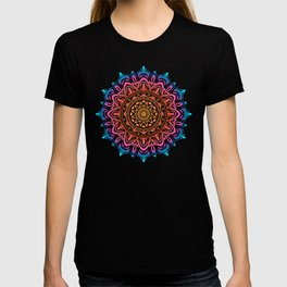 Multicolor New Age Zen Yoga Lover Intricate Muted Mandala Spiral T-shirt