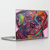 lab Laptop & iPad Skins featuring Lovable Lab by EloiseArt