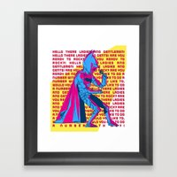 The Dark Knight Rocks (Text Version) Framed Art Print