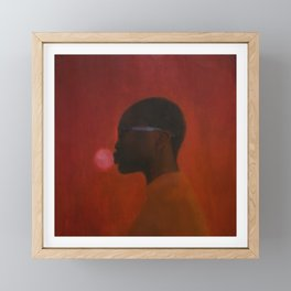 Red umbra Framed Mini Art Print