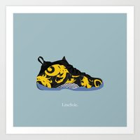 Nike Air x Supreme Foamposite One Art Print