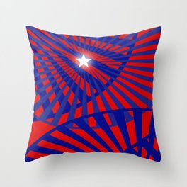Celebrate Red White and Blue Throw Pillow