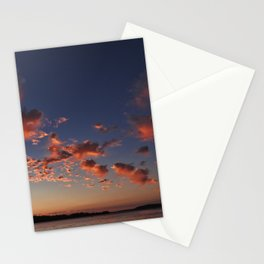 Puffy, pink Puget Sound sunset Stationery Cards