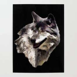 Grey Wolf Poster