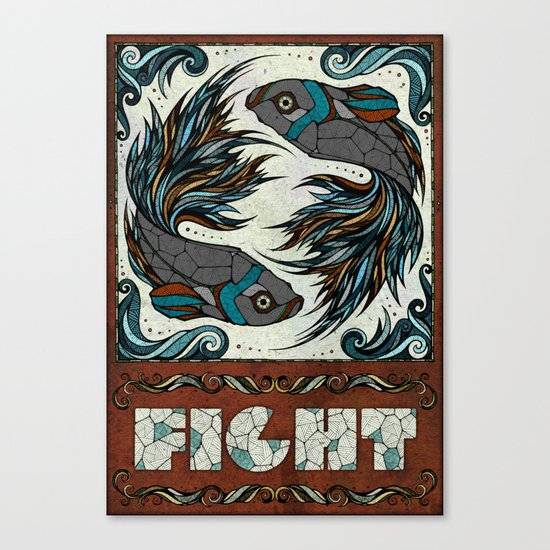 Fight Canvas Print