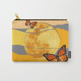 MOON & MONARCH BUTTERFLIES DESERT SKY ABSTRACT ART Carry-All Pouch