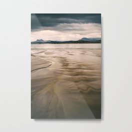 Beach and Mountains II Metal Print