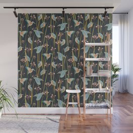 King Fishers and Marsh Reeds Wall Mural