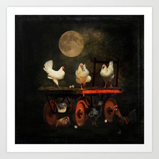 Fowl Play Art Print