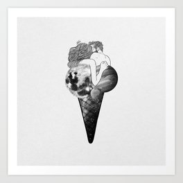 Universal ice-cream. Art Print