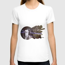 Blue skies and buildings T-shirt