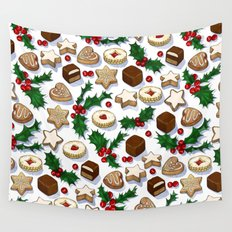 Christmas Treats and Cookies Wall Tapestry