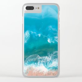 I Dream of Turqouise Seas Clear iPhone Case