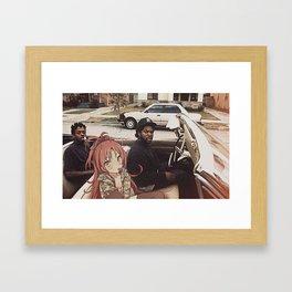 Waifuz n the Hood feat Kyoko Sakura Framed Art Print