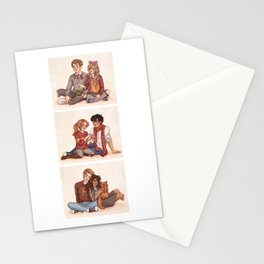 The Golden and the Silver Trio Stationery Cards