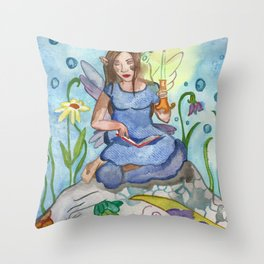 Last Candle (Fairy and the Dragon) Throw Pillow