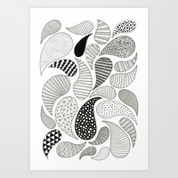 paisley Art Prints featuring Paisley by Anita Ivancenko