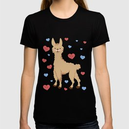 Cute and Cuddly Llama Love Valentines Day Heart product T-shirt