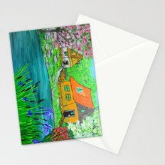 Cottages by the lake  Stationery Cards