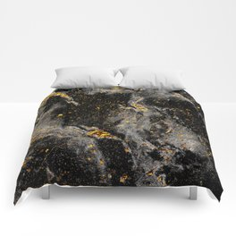 Galaxy (black gold) Comforters