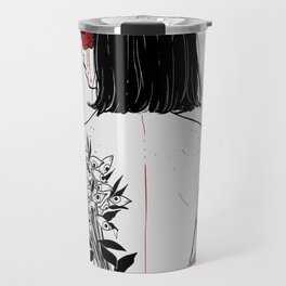 When her petals fall, they hit like bullets. Travel Mug