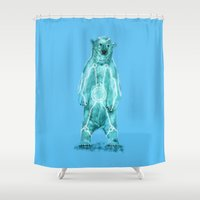 tron Shower Curtains featuring Tron by Sarinya  Withaya