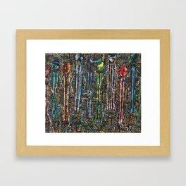 Awakening, people and words Framed Art Print