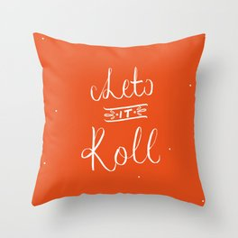 LETTERING No1  Throw Pillow